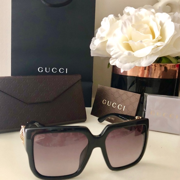 dc0304f3a56c Gucci Accessories | Authentic Sunglasses Gg 3727 Fs Black | Poshmark